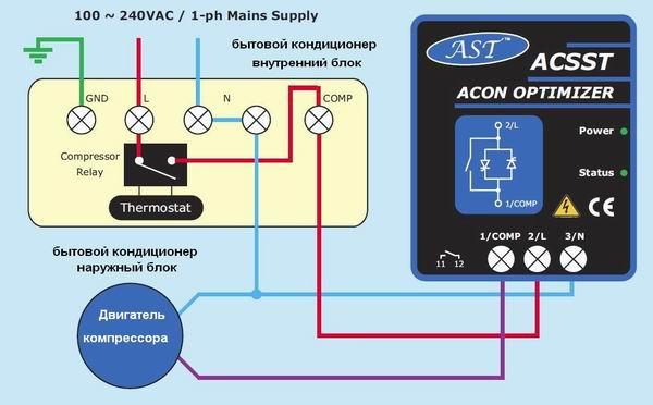 схема подключения пускателя - Схемы.