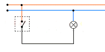 простая принципиальная электрическая схема