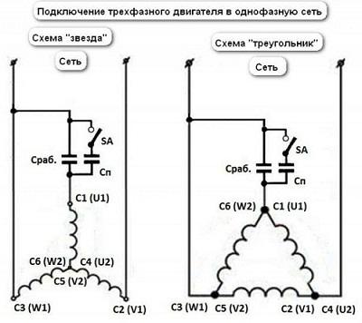 Подключение двигателя