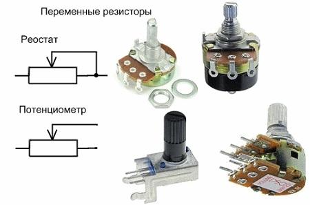переменные резисторы в