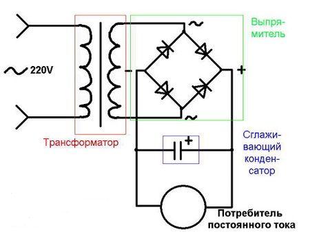 схема диодной сборки.